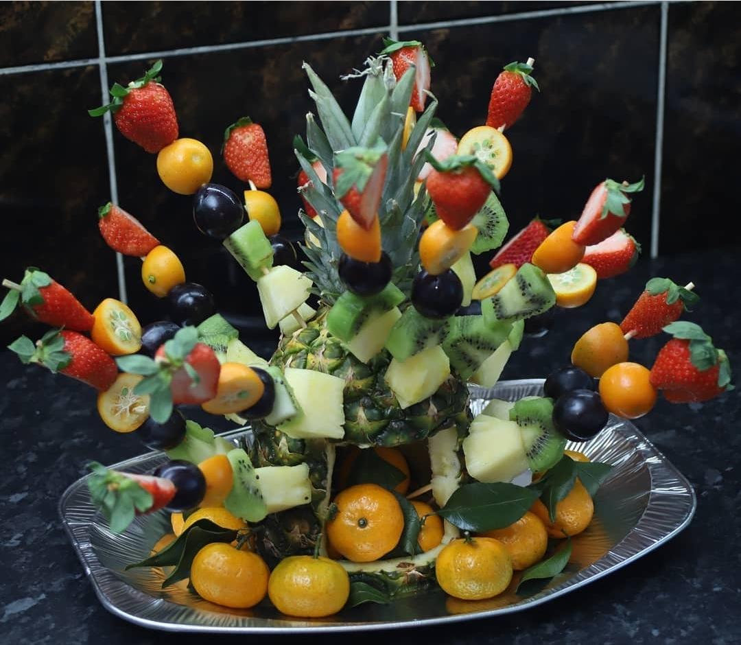 фруктовая нарезка новый год